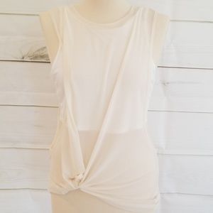 NEW ANGL Solid Power Mesh Top